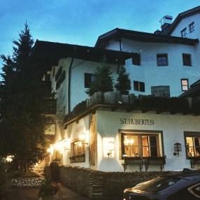 Hotel Rosa Alpina at night