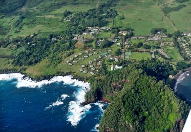 Travaasa Hana from the air