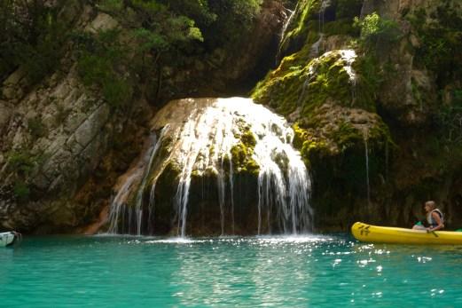 Gorge du Verdon waterfall