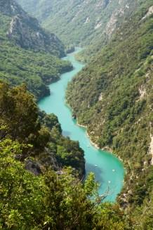 Gorge du Verdon river