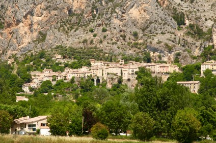 Moustiers town view