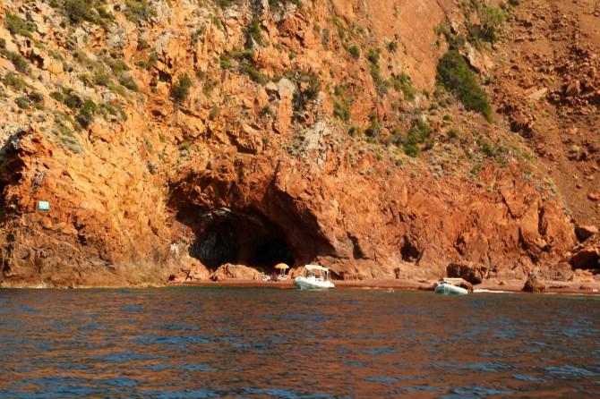 Scandola Nature Preserve boats at anchor