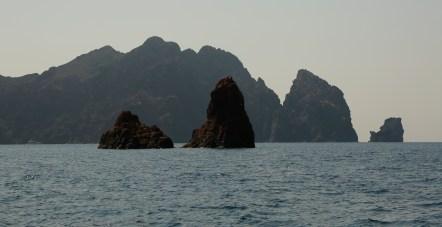 Scandola Nature Reserve silhouettes