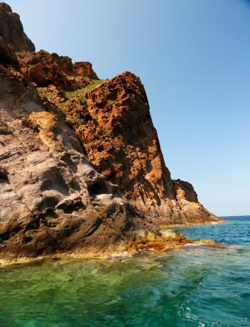 Scandola Nature Preserve colored rocks