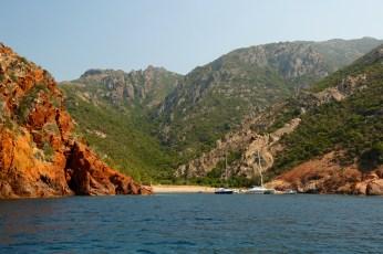 Scandola Nature Reserve anchored sailboats