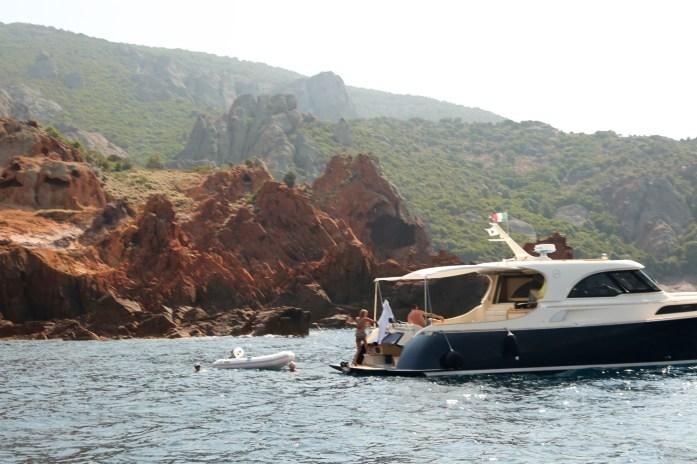 Scandola Nature Preserve picnic boat swimmers