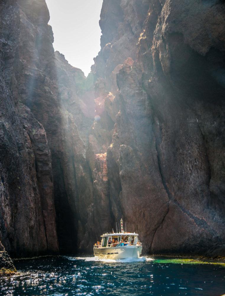 tour boat in Scandola Nature Reserve