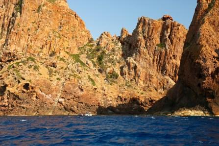 Scandola Nature Reserve steep cliffs