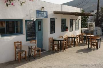 Chora Folegandros restaurant exterior