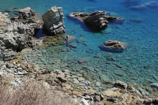 Folegandros Galifos beach water