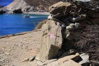 Folegandros Galifos path sign
