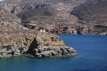 Agkali beach churches