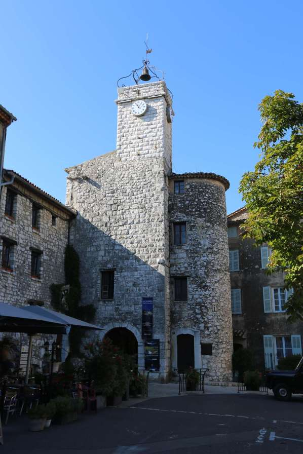 Tourrettes-sur-Loup clock tower