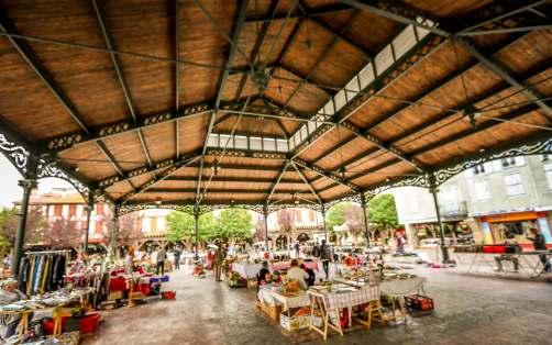 Mirepoix, Languedoc market covered