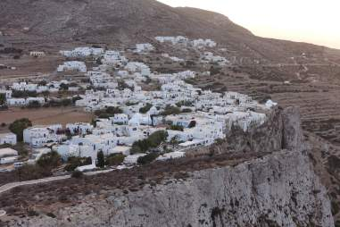 Closeup of Chora Folegandros cliff