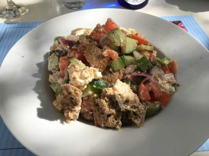 Chora Folegandros greek salad