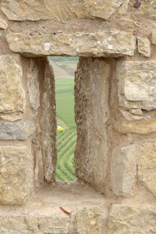 Obidos castle arrow slot view