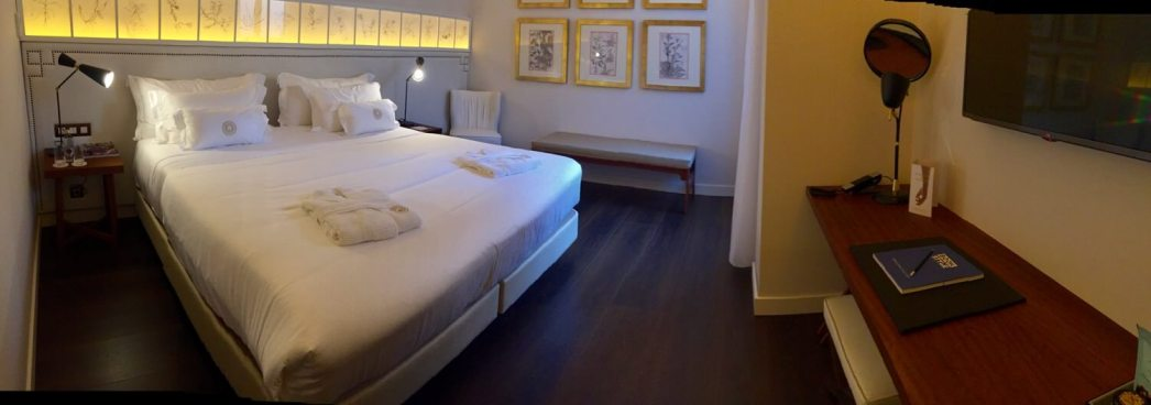 Cotton House Barcelona bedroom panorama