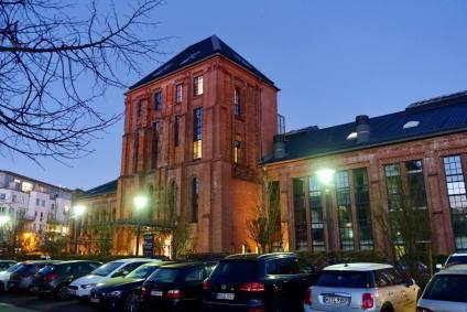 Gastwerk Hotel Hamburg entrance at night