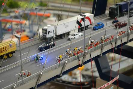 Miniatur Wunderland bridge bike riders