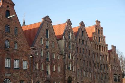 Lübeck river houses detail