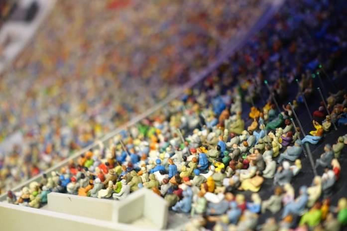 Miniatur Wunderland stadium fans