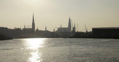 Lübeck boat tour view