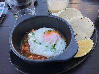 Shakshuka for breakfast! I could eat this every day. And did.