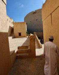 Nizwa Fort outside stairs