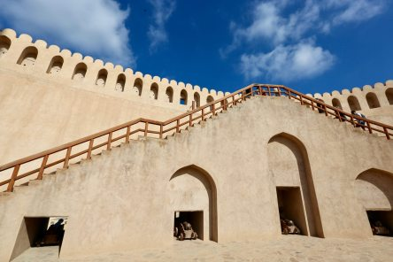 Nizwa Fort stairs
