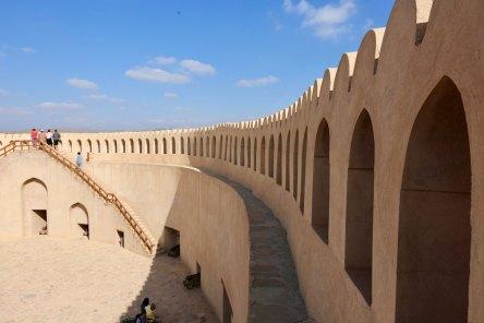 Nizwa fort rampart arches