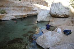 Wadi Bani Khalid swimming