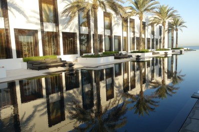 The whole resort is about reflections. Day and night.