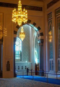 Sultan Qaboos Mosque arches window