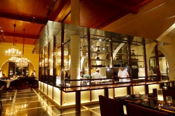 The Chedi Muscat glaased kitchen