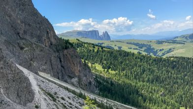 You can see all the way down Val Gardena