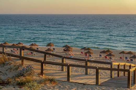 Restaurante Sal Comporta beach at sunset