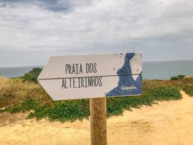 If you take a left, the path follows along the ocean cliffs....