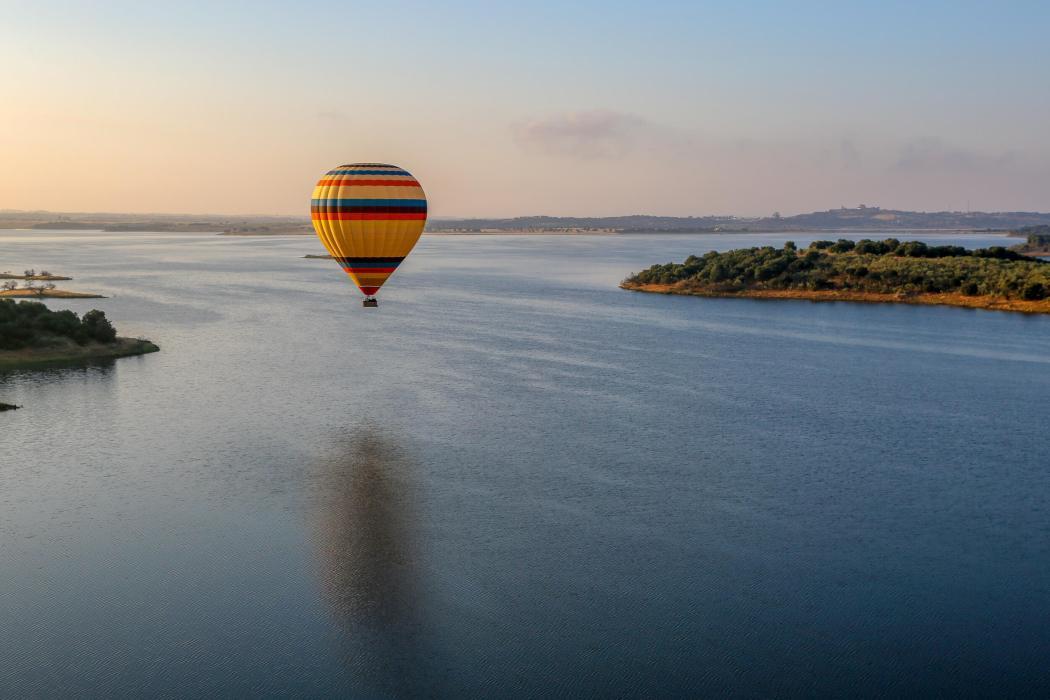 Balloon over Alqueva Reservoir