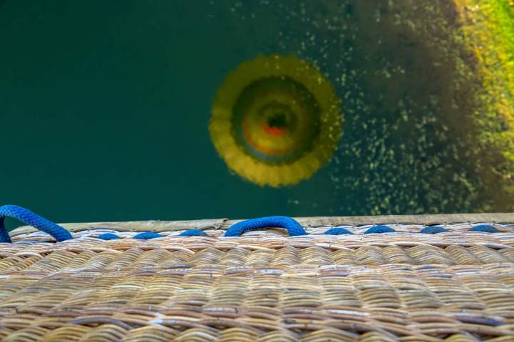 balloon basket reflection Alqueva Reservoir