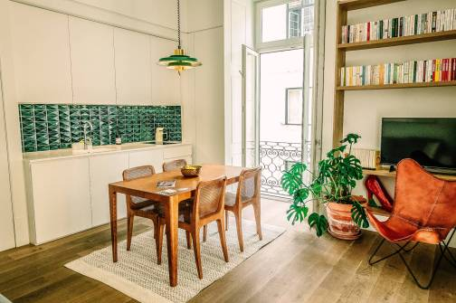 There's even a kitchenette, stocked with everything you need in the morning. Coffee. Yoghurt. Granola. Prosciutto. Snacks. Each item as well thought out as the furnishings. Just what you need, nothing more.