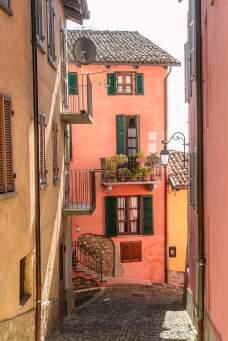 Monforte d'Alba colorful buildings
