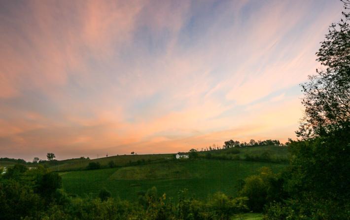 peach sunrise Casa Gialla Monforte