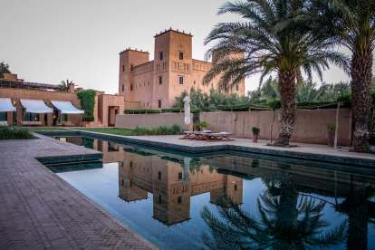 Dar Ahlam pool reflection