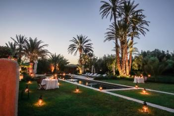 Dar Ahlam dining by pool