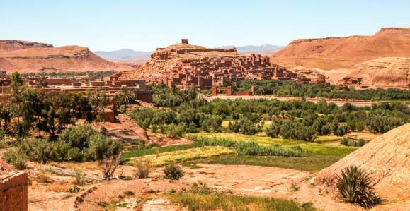 You've probably seen this ancient fortress town -- Ben Haddou -- as backdrop for countless movies like Lawrence of Arabia and Game of Thrones. Standing proud, as it has for thousands of years.