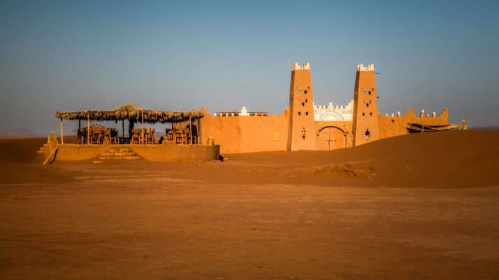 Sahara desert fort towers