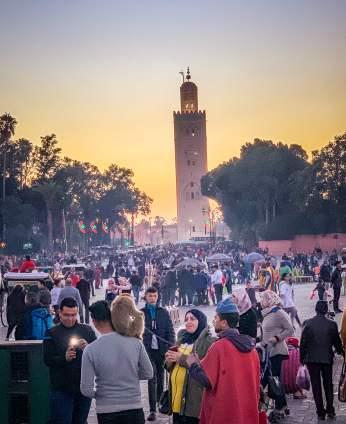 busy street Marrakesh