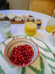 Breakfast is the best, with healthy meals, a hot noss-noss coffee and fresh squeezed orange juice.