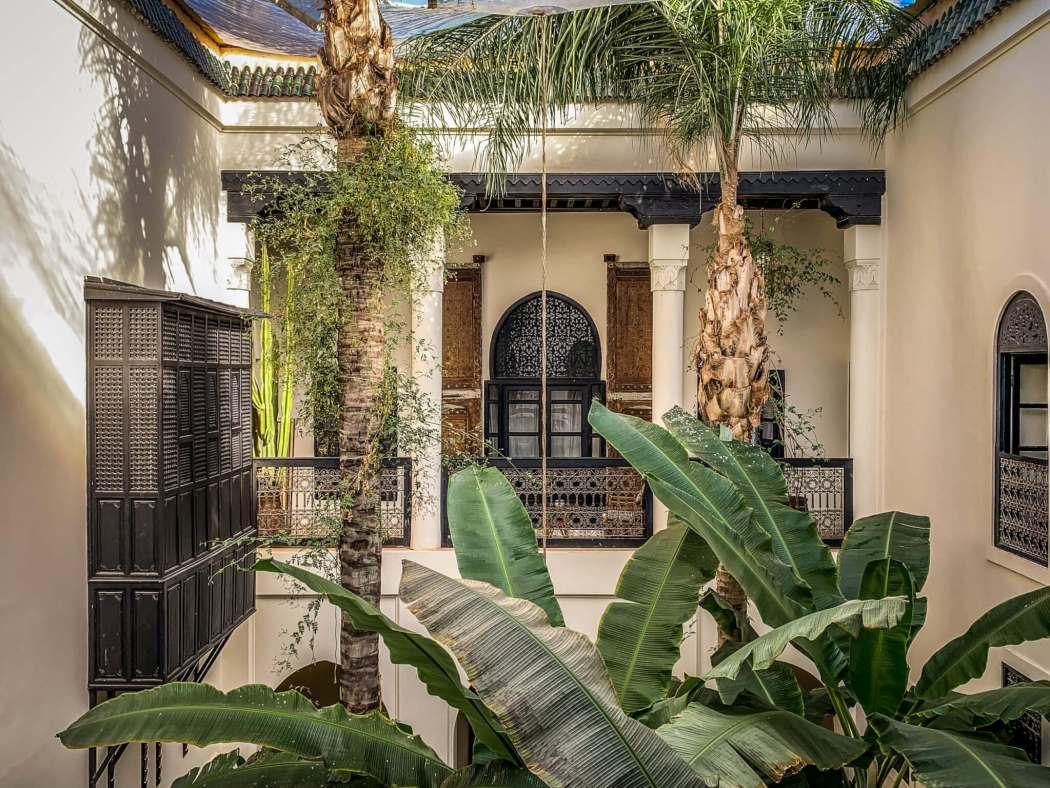 Riad 72 trees in atrium